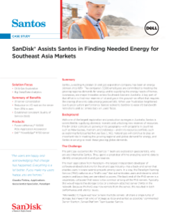 SanDisk Assists Santos in Finding Needed Energy for Southeast Asia Markets