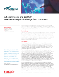Athena Systems and SanDisk Accelerate Analytics for Hedge Fund Customers