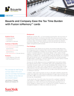 Bauerle and Company Ease the Tax Time Burden with Fusion ioMemory™