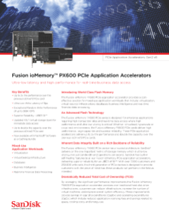 Fusion ioMemory PX600 Application Accelerators